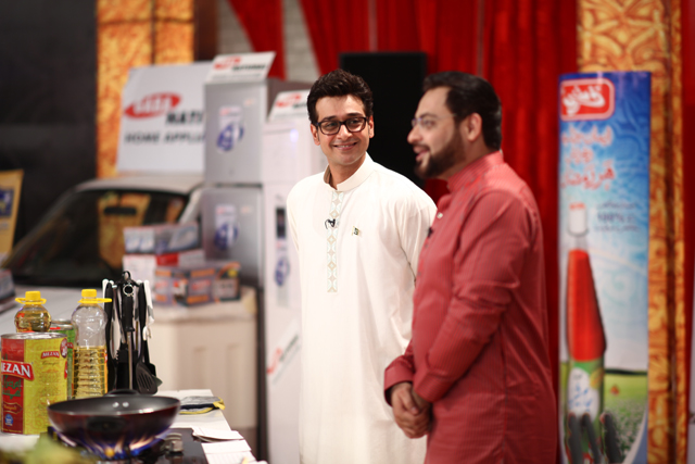 Dr Aamir with Faisal Qureshi